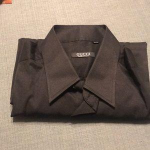 Gucci black long sleeve shirt size large 32-33